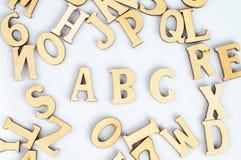 ABC en bois images stock