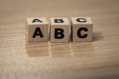 ABC en cubos de madera Imagen de archivo