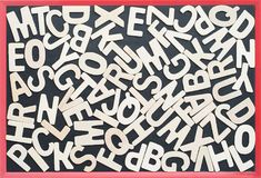 ABC en el blackbroad como composición del fondo Imágenes de archivo libres de regalías