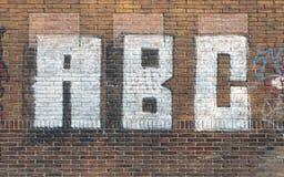 ABC en la pared Imágenes de archivo libres de regalías