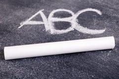 ABC en la pizarra Imágenes de archivo libres de regalías