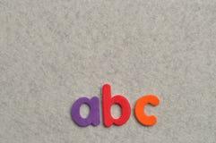 ABC en un fondo blanco Fotografía de archivo libre de regalías
