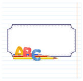 ABC encadrent Photographie stock