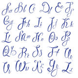 ABC - English alphabet - Handwritten calligraphic Royalty Free Stock Image