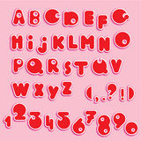 ABC - english alphabet and numerals. Funny cartoons Royalty Free Illustration