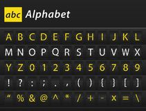 ABC English Alphabet table content. ABC English Alphabet different color airport letters table content Stock Photo