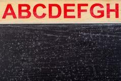 ABC escrito con el fondo Imágenes de archivo libres de regalías