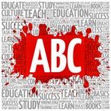 ABC esprime la nuvola, concetto di istruzione Fotografia Stock