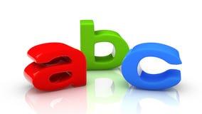 ABC färbte Buchstaben Stockfotografie