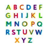 abc färgrikt alfabet Vektor Illustrationer