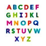 abc färgrikt alfabet fotografering för bildbyråer