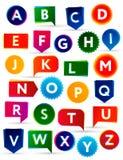 abc färgrikt alfabet Royaltyfri Illustrationer