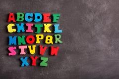 Abc för engelskt alfabet Fotografering för Bildbyråer