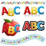 ABC-Fahnen und Zeichen Stockfotos