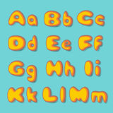 Abc  fat  set. In retro style Royalty Free Stock Images