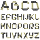 ABC film tape. Vector alphabet of folded film tape Royalty Free Stock Photos