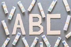 ABC financiero Fotografía de archivo
