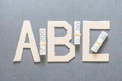 ABC financiero (versión polaca) Imágenes de archivo libres de regalías
