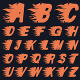 ABC Fire Letters, Vector Illustration Stock Image