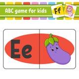ABC-Flash-Karten Alphabet f?r Kinder Lernen der Zeichen Sich entwickelndes Arbeitsblatt der Ausbildung T?tigkeitsseite f?r Studie lizenzfreie abbildung