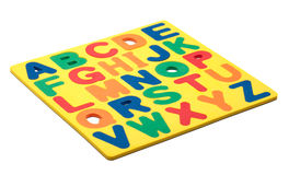 ABC Foam Letters. A copy of the alphabet made out of foam magnetic letters Stock Photos