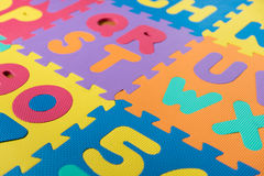 ABC foam puzzle Royalty Free Stock Photos