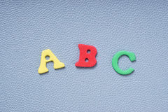 ABC in foam rubber letters Stock Image