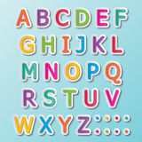 Abc font. Colorful paper font signs. capital alphabet A-Z Stock Photography