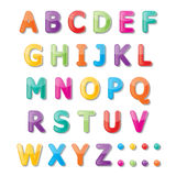Abc font. Colorful paper font signs. capital letters A-Z Royalty Free Stock Photography