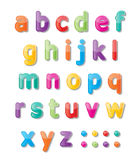 Abc font. Colorful paper font signs. smalll letters A-Z Stock Photography