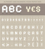 ABC font from paper tape Royalty Free Stock Image