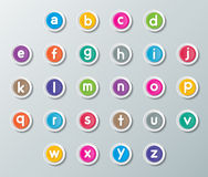 Abc font Stock Photography