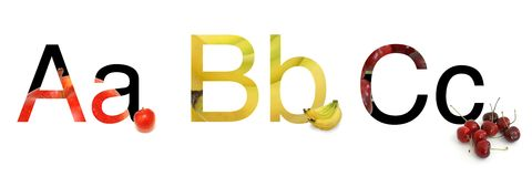 ABC of Fruit Royalty Free Stock Image