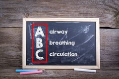 ABC-geneeskunde Luchtroute, Ademhaling en Omloop stock foto's