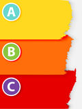 ABC gepelde document banner Royalty-vrije Stock Foto