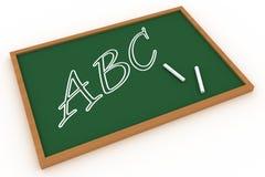 ABC geschrieben auf eine Tafel Stockfotografie