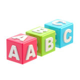 ABC glossy cube illustration isolated. On white Stock Images