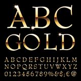 Abc gold letters. Golden alphabet, elegant golden letters, vector illustration vector illustration