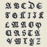 ABC gothique réglé Image libre de droits
