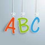 ABC Gray Background Illustration de Vecteur