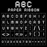 ABC gray font from paper tape Stock Photography