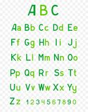 Abc green alphabet Stock Images