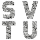 ABC2. Group of abc letters, vector illustration, doodle sketchy style Stock Illustration
