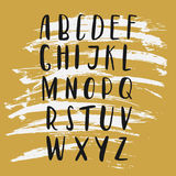 ABC - Hand drawn brush and ink latin letters. Vector alphabet. ABC - Hand drawn brush and ink latin letters. Vector alphabet Stock Image