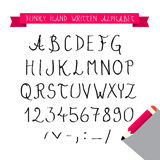 ABC - Hand Written Sketched Funky Retro Font - Alphabet Royalty Free Stock Image