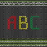 ABC hecho punto Imagen de archivo libre de regalías