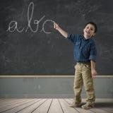 Abc i blackboard Royaltyfri Fotografi
