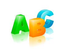 ABC icon. Colorful vector illustration of ABC icon Royalty Free Stock Images