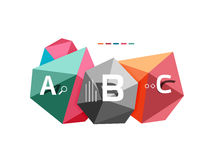 ABC infographics. Geometric low poly abstract design Stock Photos