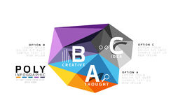 ABC infographics. Geometric low poly abstract design Stock Photography
